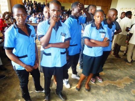 Elèves du lycée d'Agongo