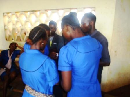 Elèves du lycée de Mbalngong