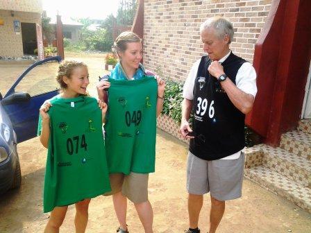 De gauche à droite: Mélissa, Liora et Tommy.