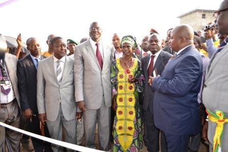Inauguration de la maison par le président de la Fédération