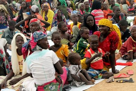 Réfugies nigérians à Minauwao