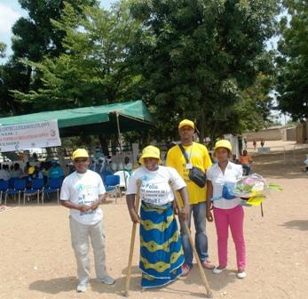 femme paralysée par le virus de la polio à Garoua