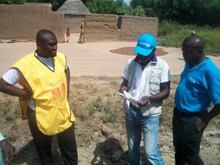 Equipe Unicef à Langui au Nord-Cameroun pendant la vaccination