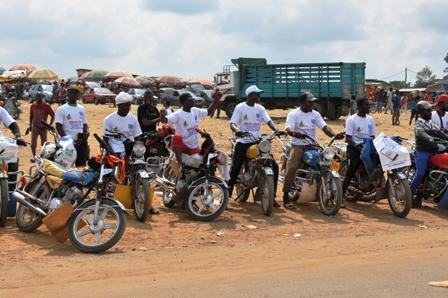 Mobilisation des motos-taxis de Kye-Ossi