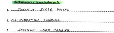 Groupe D