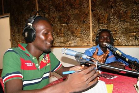 Dagui et Yaya en studio