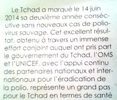 """Extrait du Magazine """"Les Nations Unies en action"""" Tchad, Janvier 2015."""