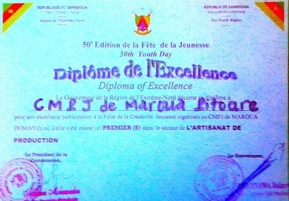 Diplome CMPJ Maroua