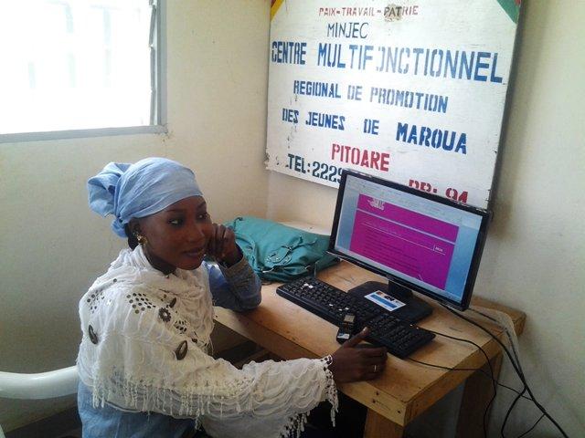 Latifa, apprenante au CMPJ Régional de Maroua