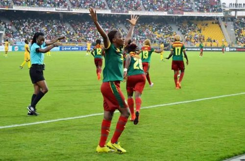 Henriette Michele Akaba Edoa, double buteuse du Cameroun face au Zimbabwe