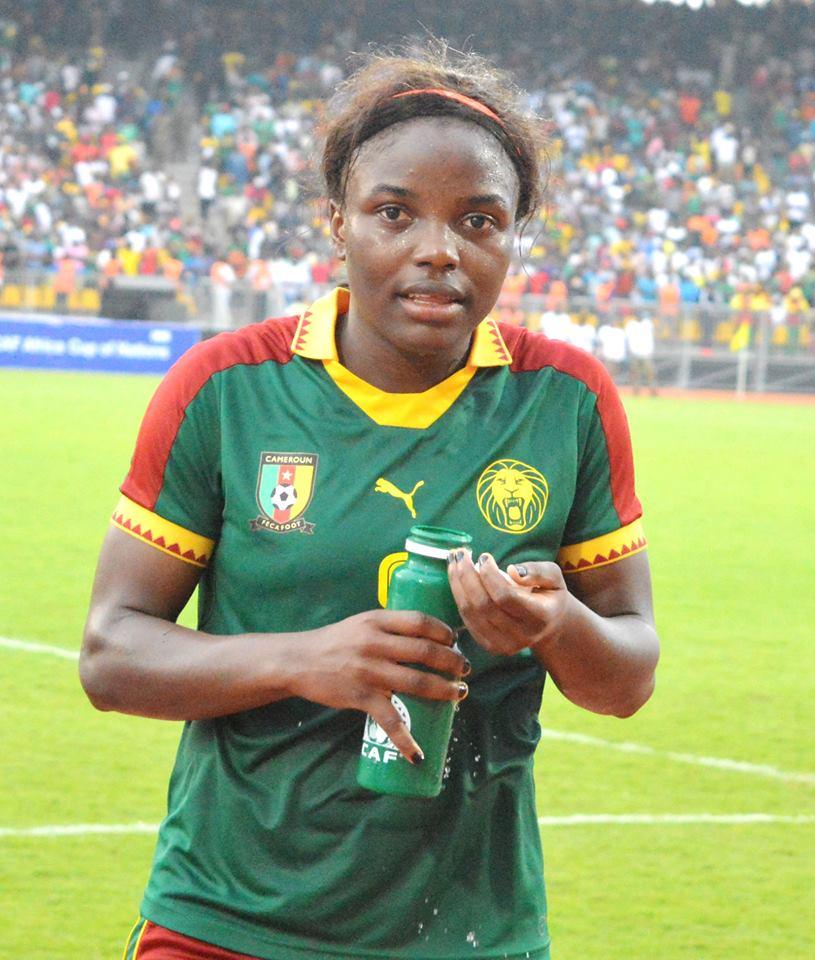 Raissa Feudjio, buteuse face au Ghana
