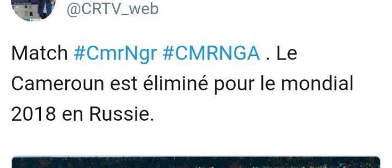 Article : Le Cameroun n'ira pas à la coupe du monde 2018